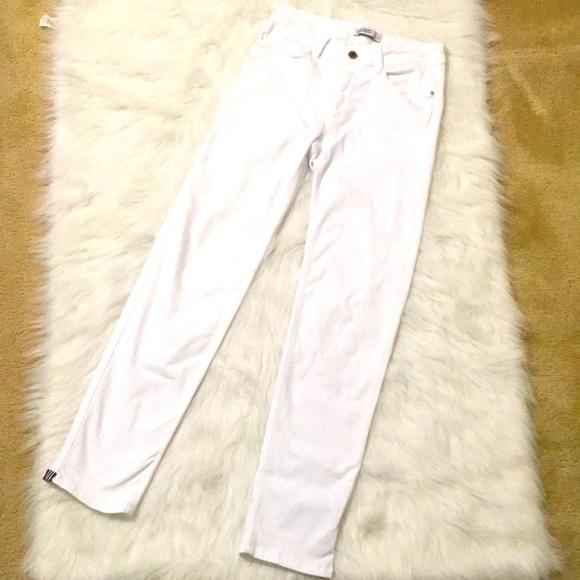 Zara Basic Z1975 denim skinny white jeans size 6